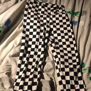 Checkered flag style leggings